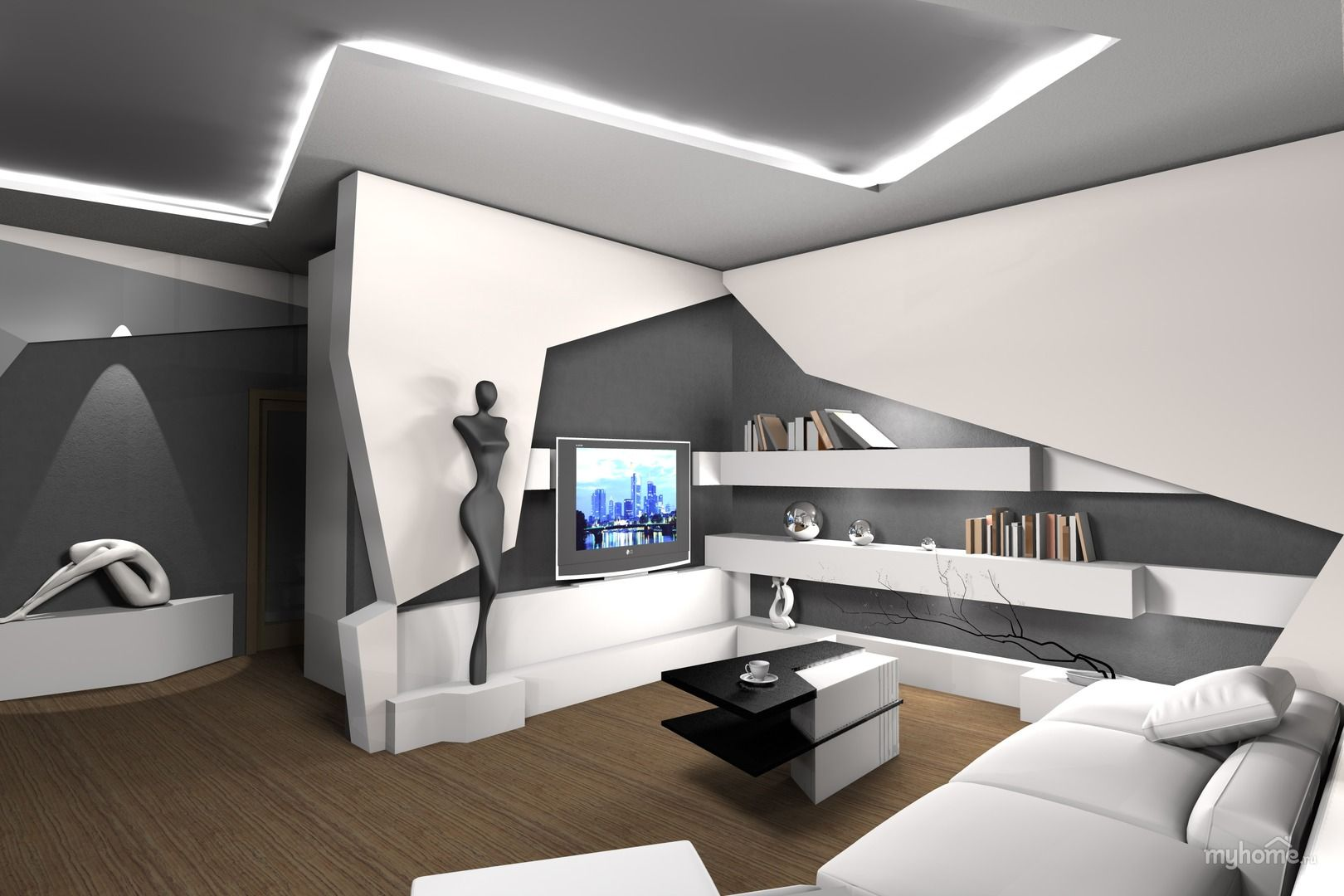 Futurism In The Hotel Interior Is A Modern Apartment With Wide Range Of Home Liances It S Rigorous Background And Bright Color Accents