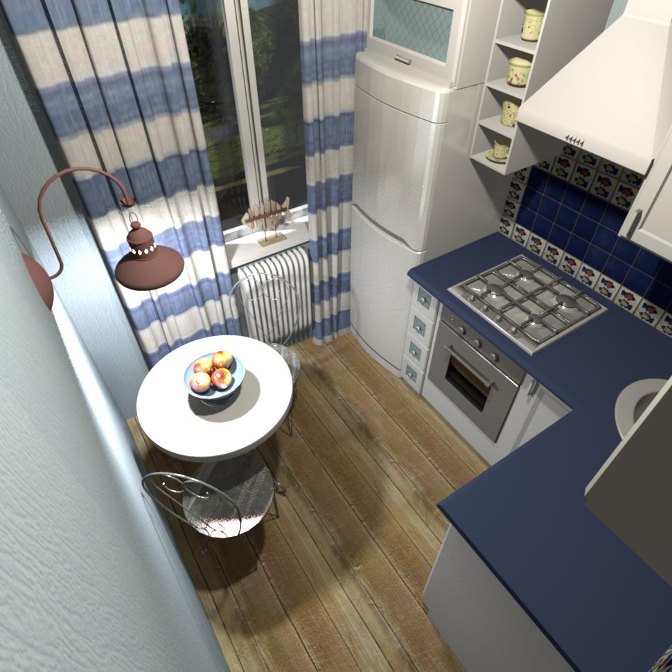 real kitchen interior in Marine style. Rare design