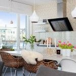 Stockholm apartment - real Scandinavian dwelling with a lot of flower decorations