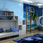 Marine Style Interior Design of the children`s room