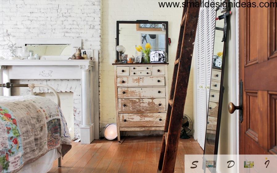 Whitewashing in the bedroom design
