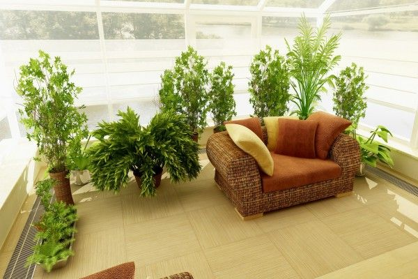 Loggias, Balconies, Terraces Interior Design with winter garden idea