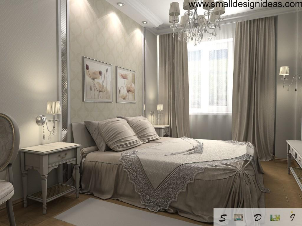 Nice lace decoration and geometric shape at the bed linen