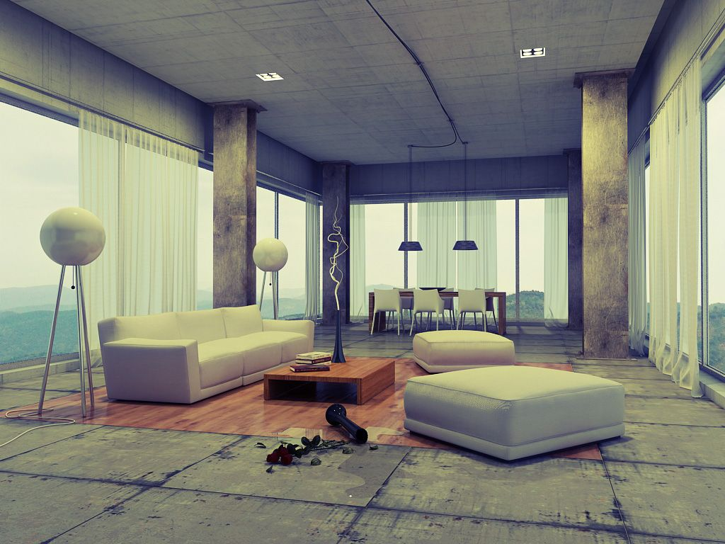 Loft Interior Arrangement And Modern Furniture Decoration With Piquant Details Very Primal Design