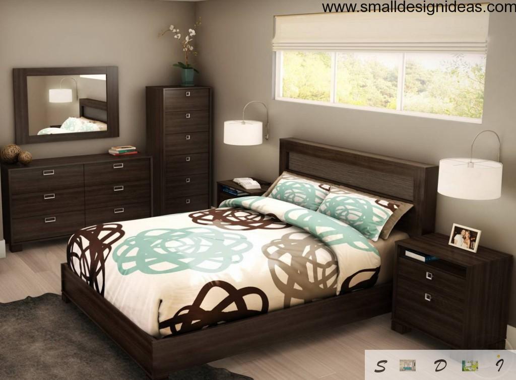 Small Design Ideas for Small Bedroom in dark modern interior