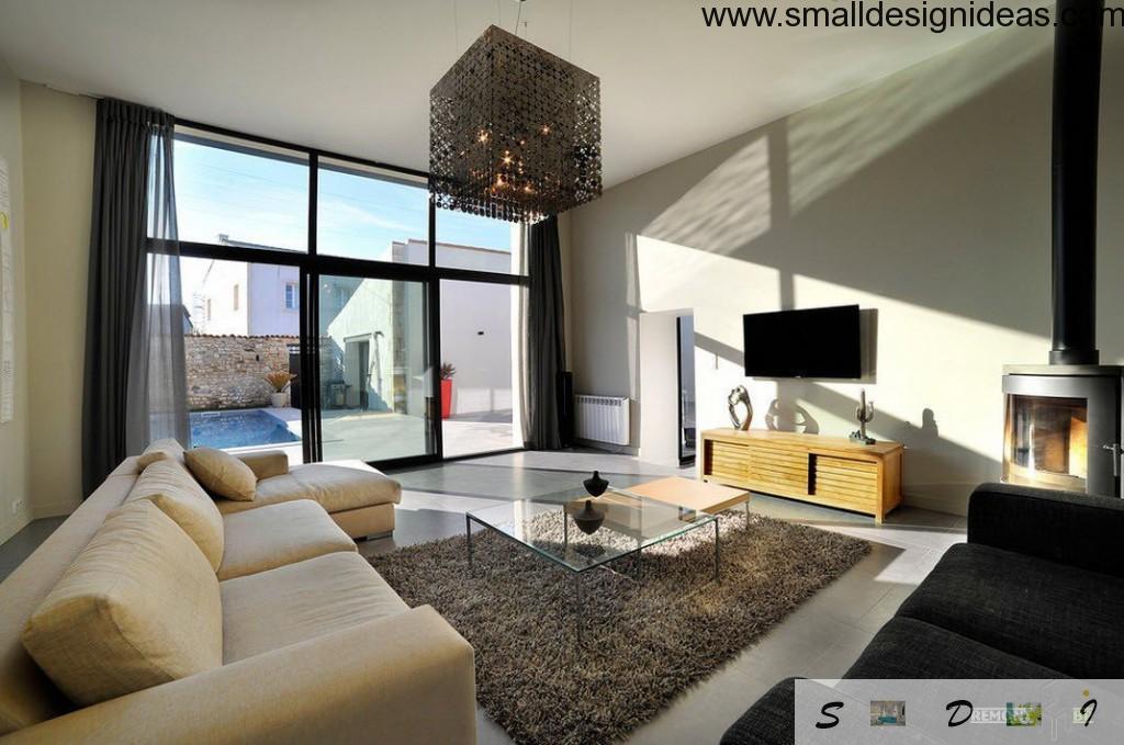 living room glass