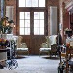 vintage style apartment design ideas for wooden hallway