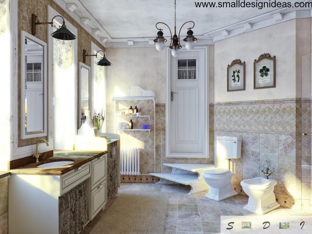Real touch of French interior design culture can be also in the bathroom and toilet