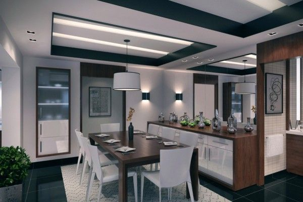 Dining room with a lockers and cupboards