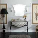 Vintage style in interior is a contrasting colors and classic furniture of past century