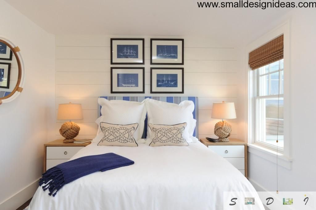 Marine style for small bedroom interior