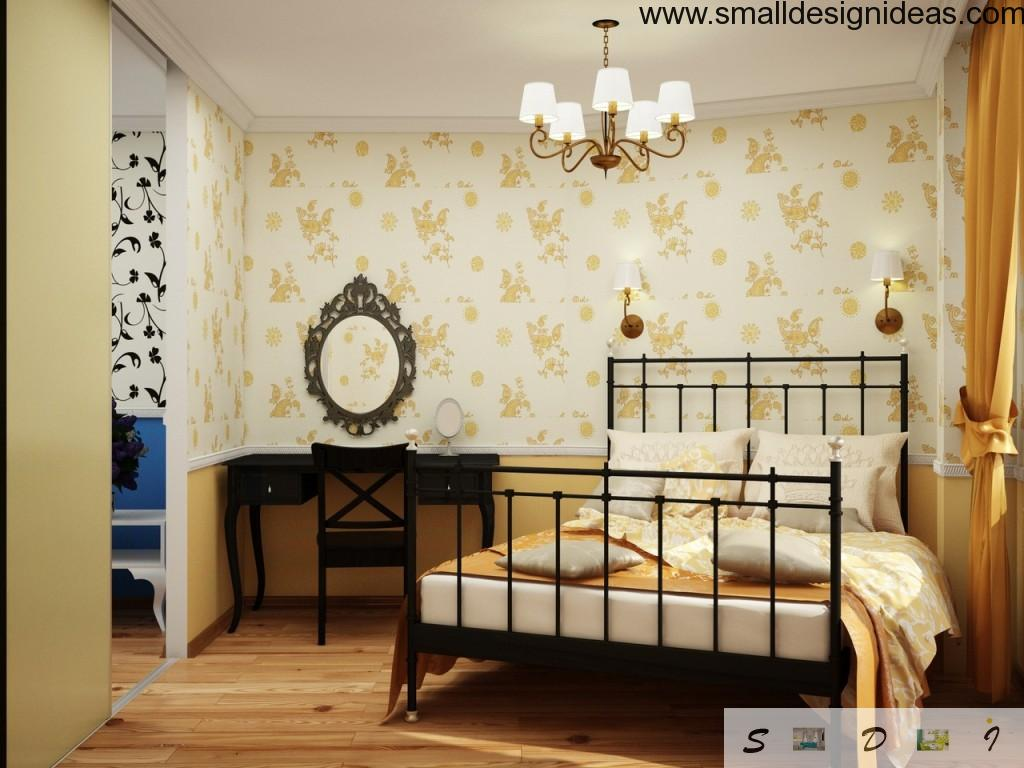 Small Design Ideas for Small Bedroom with angular orientation over the room