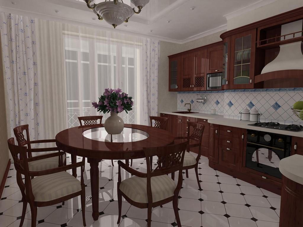 Dining Room Combined With Kitchen Is A Good Way Out For Those Who Do Not Have At Their Disposal Lot Of Free Space