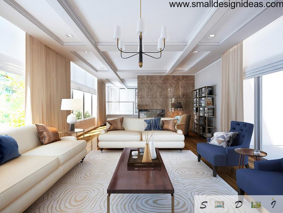 Unusual ambience in the white trimmed living full of contrasts