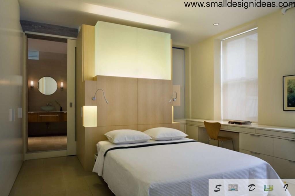 Special cunning lighting systems for modern interior of a bedroom