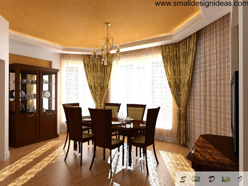 Contrasting design and furniture in the dining room