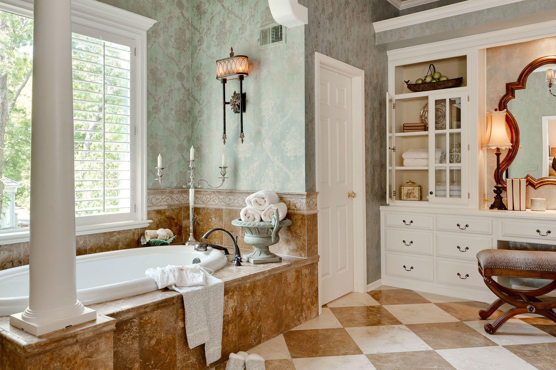 Ideas Bathroom Sophisticated Brown Marble