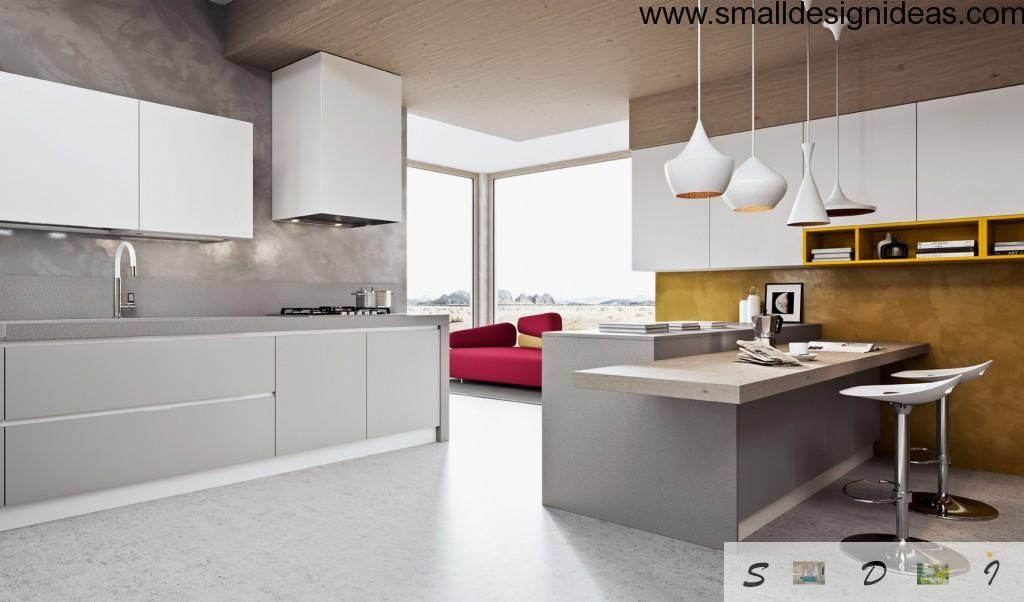 Nice convenient and advanced kitchen in minimalistic style
