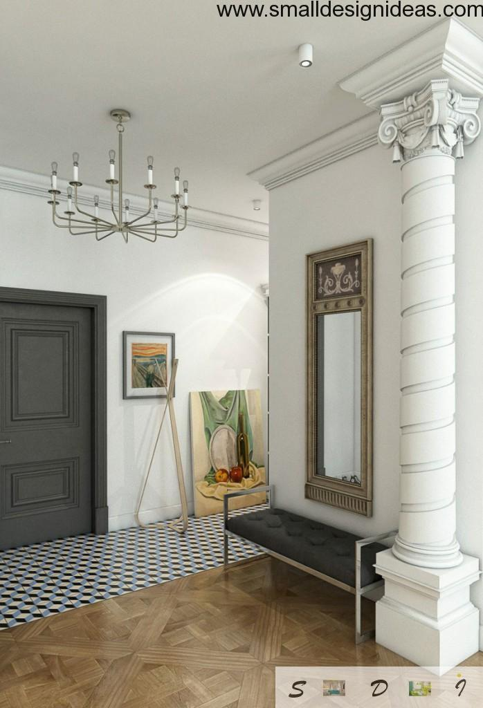 Stucco in vintage interior