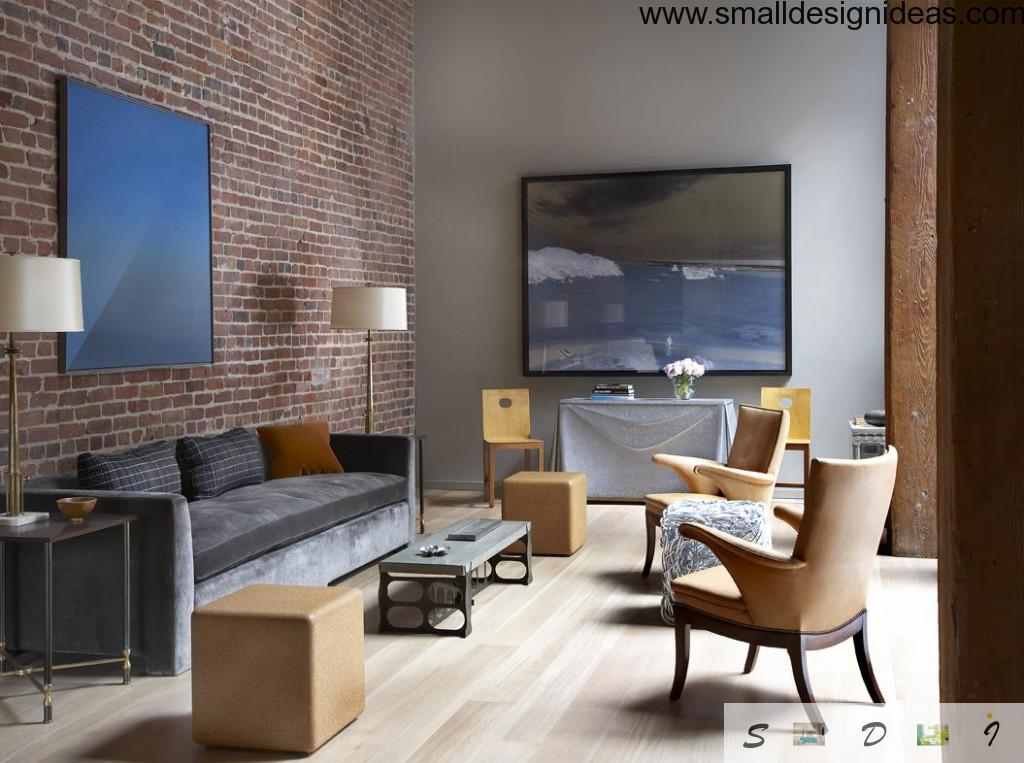 Original way to furnish the Loft living room in the apartment