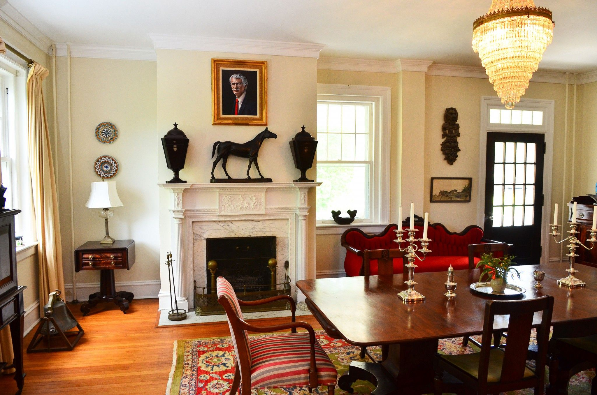 Fireplace At The Dining Room Small Design Idea For Your