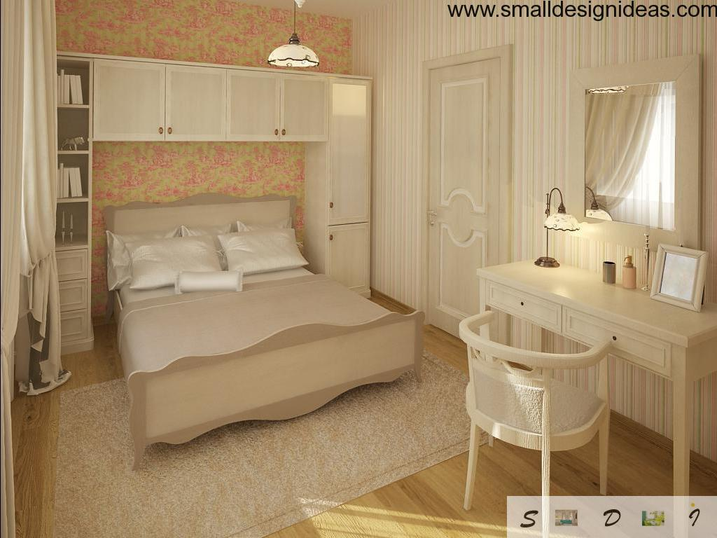Small Design ideas for smal bedroom with mirror in front of the dresssing table