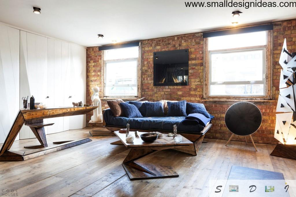 Scandinavian notes in the Loft wooden and textile interior