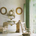 Provence Interior Design Style in the artificially furnished room for photo set