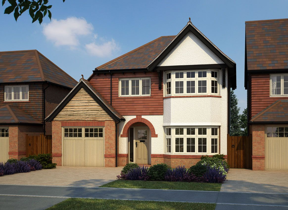 House design england - English Style Design For Country Houses With Built In Garage Near Crossway