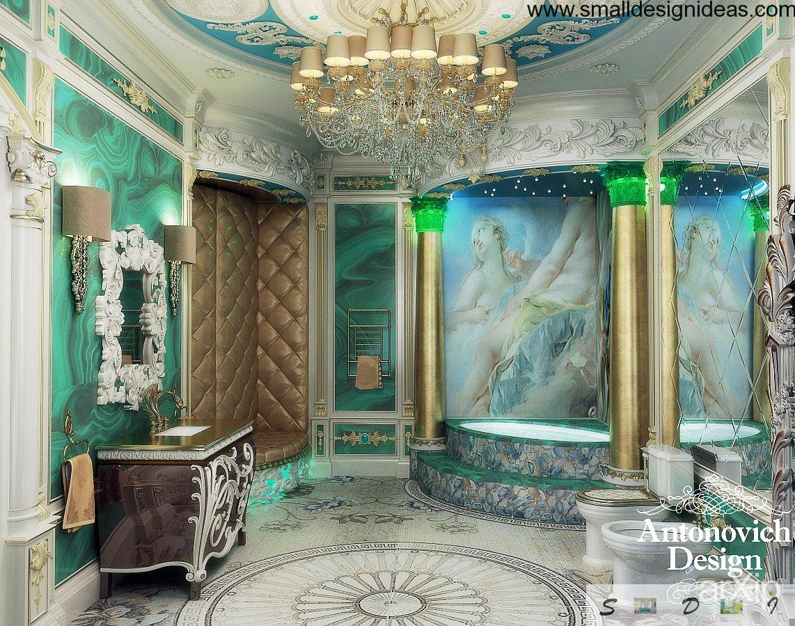 Rococo interior design style for Designs of the interior