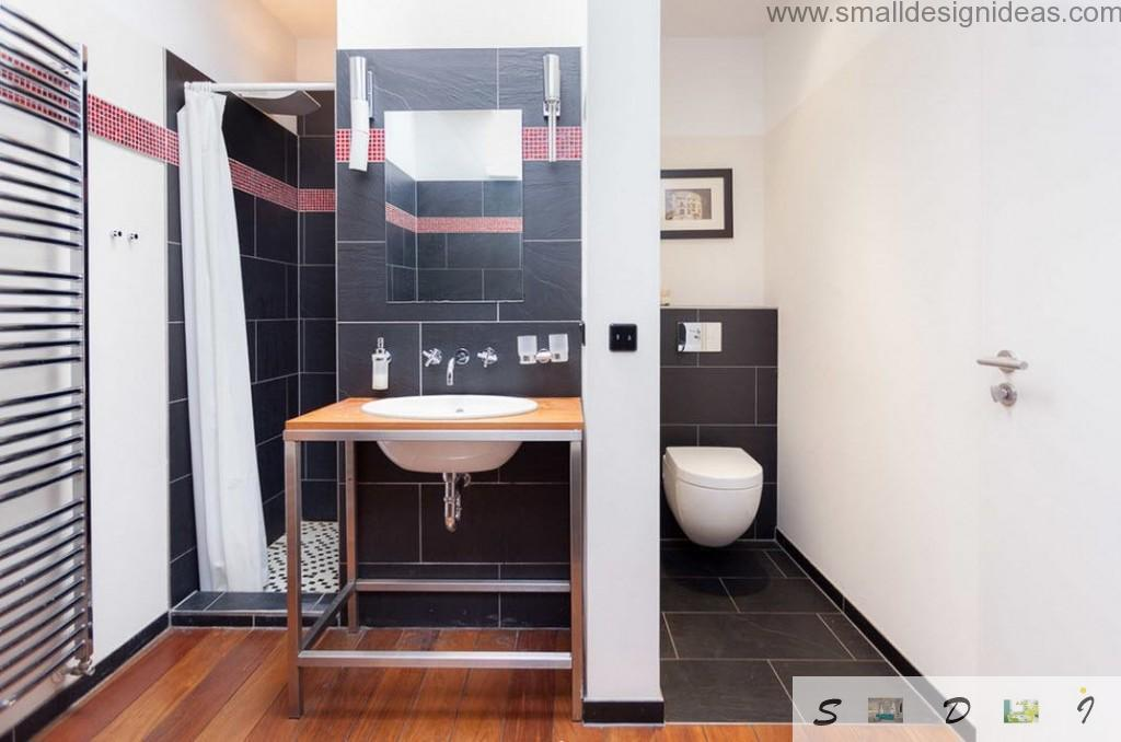 black porcelain tiles for bathroom finishing