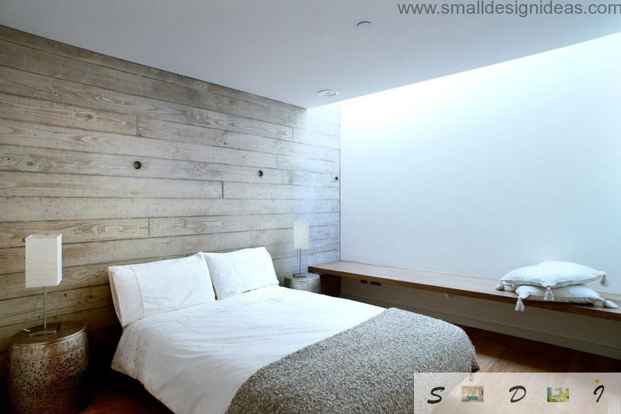 White bedroom and the cpectaculous white linen with terry coat on the bed in the modern minimalistic bedroom