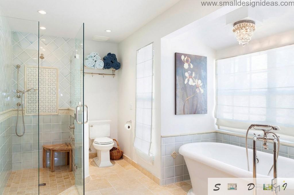 Shower Cubicle, toilet and bathtub in one bathroom