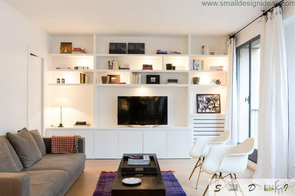 Black electronics in the creamy living room colors