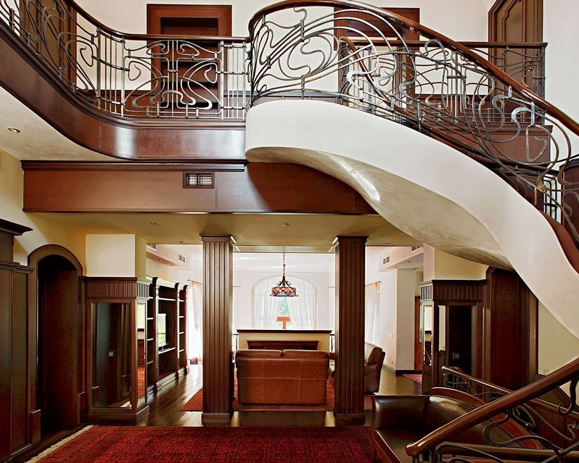 Stairs And Second Level Of The Private House In Art Nouveau Style