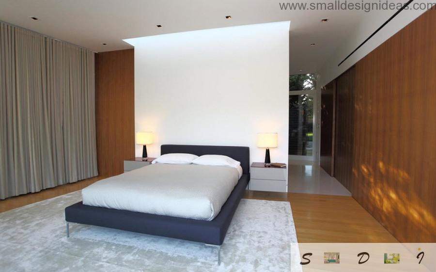 Bedroom can content any mix of interior styles and achieve the individuality