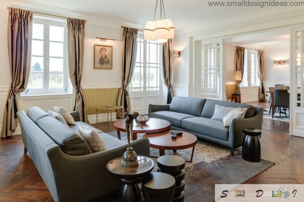 Furniture in the living room arrangement