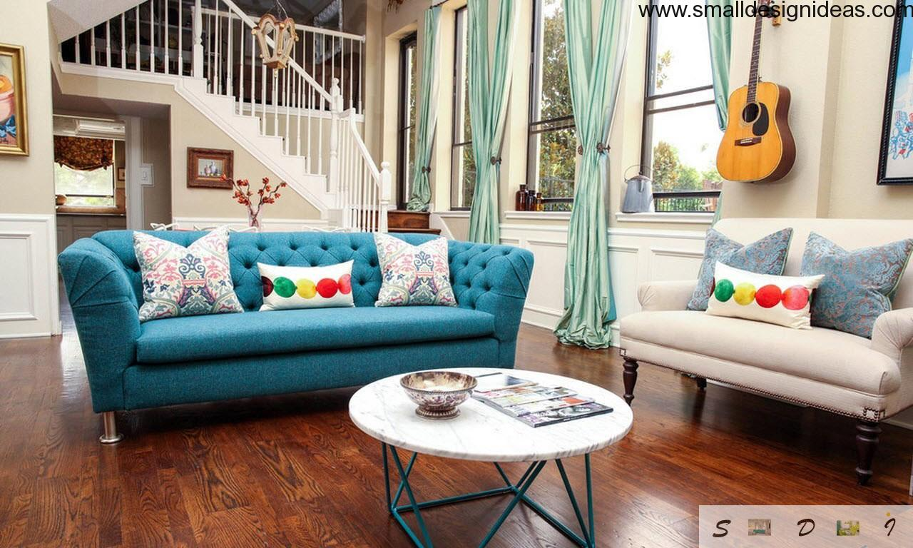 Eclectic living room design for Eclectic living room ideas