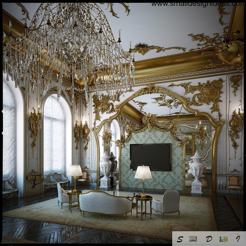 Rococo interior design style for Art et decoration