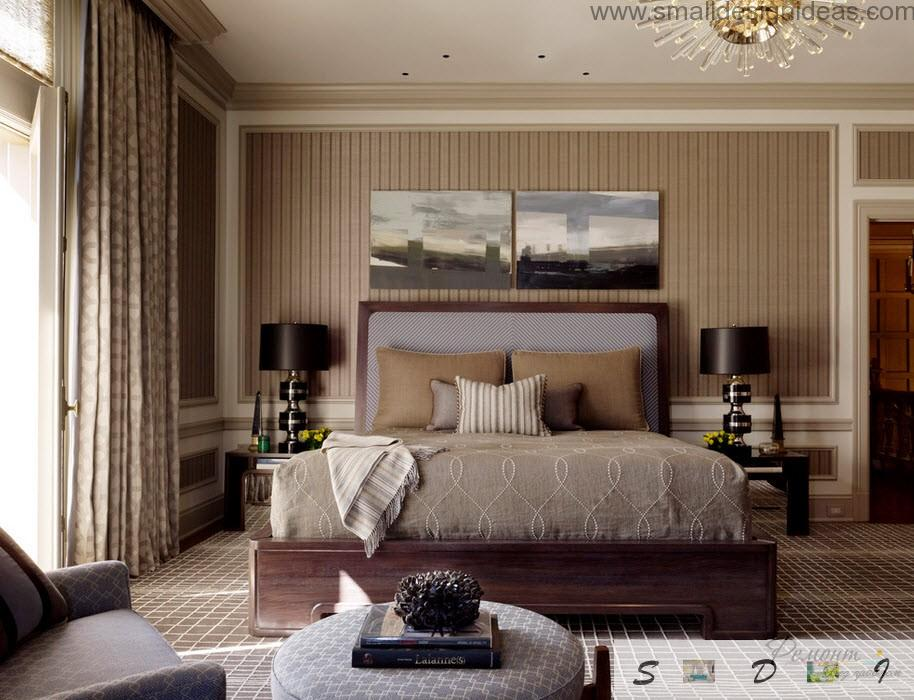 Decoration Black And Gray Combination In The Modern Classic Bedroom Interior