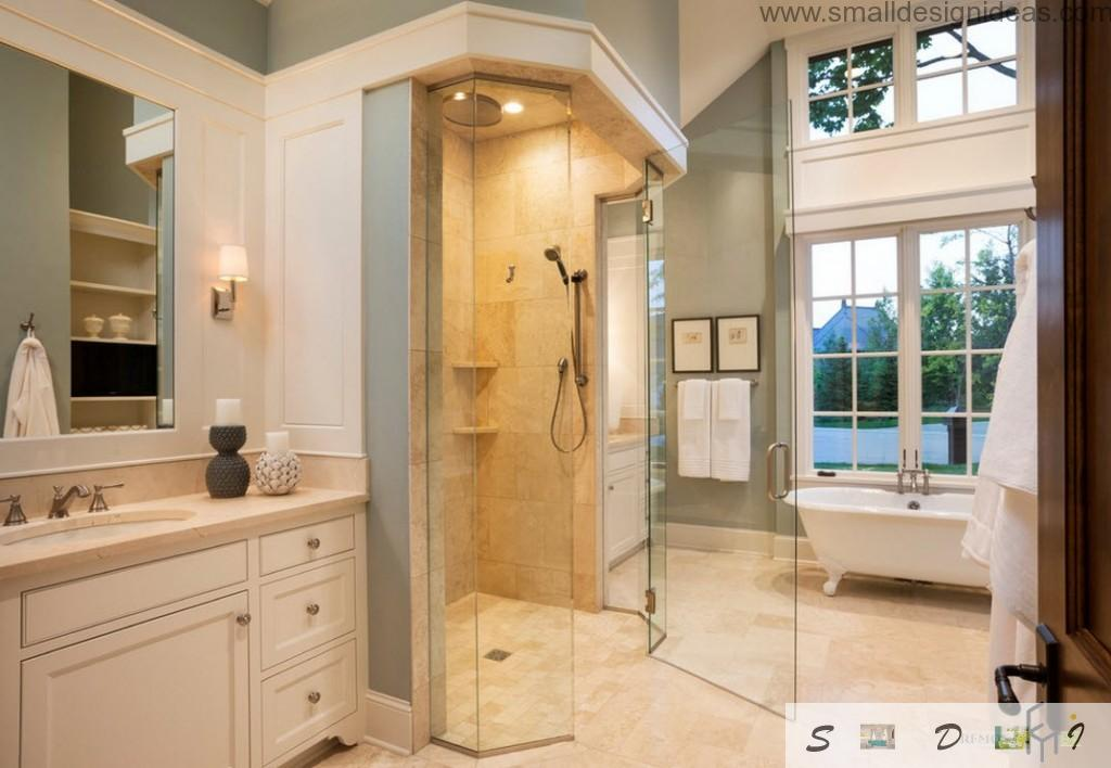 Royal shower cubicle in the country house