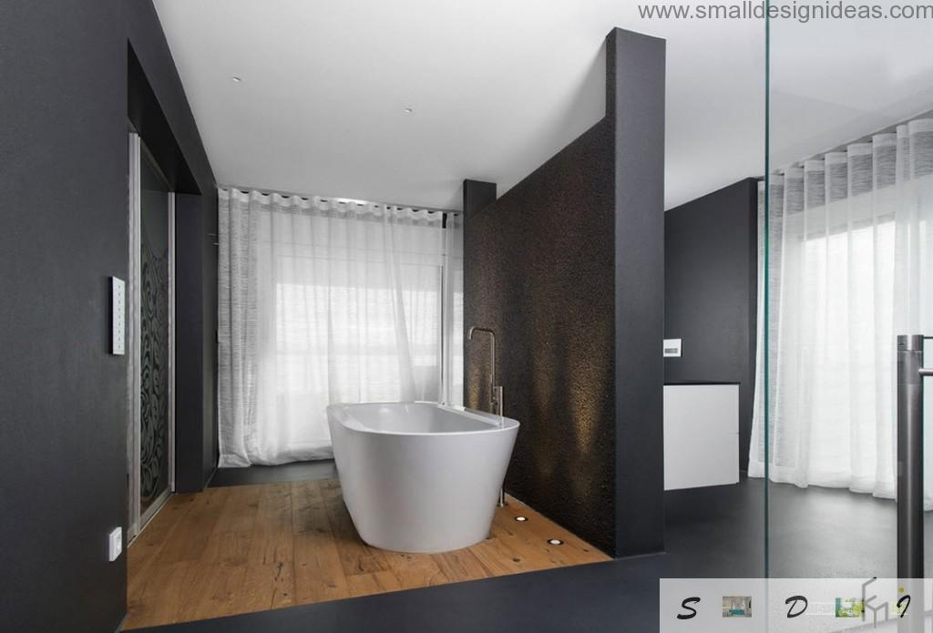 Black as a new trend in the bathroom design