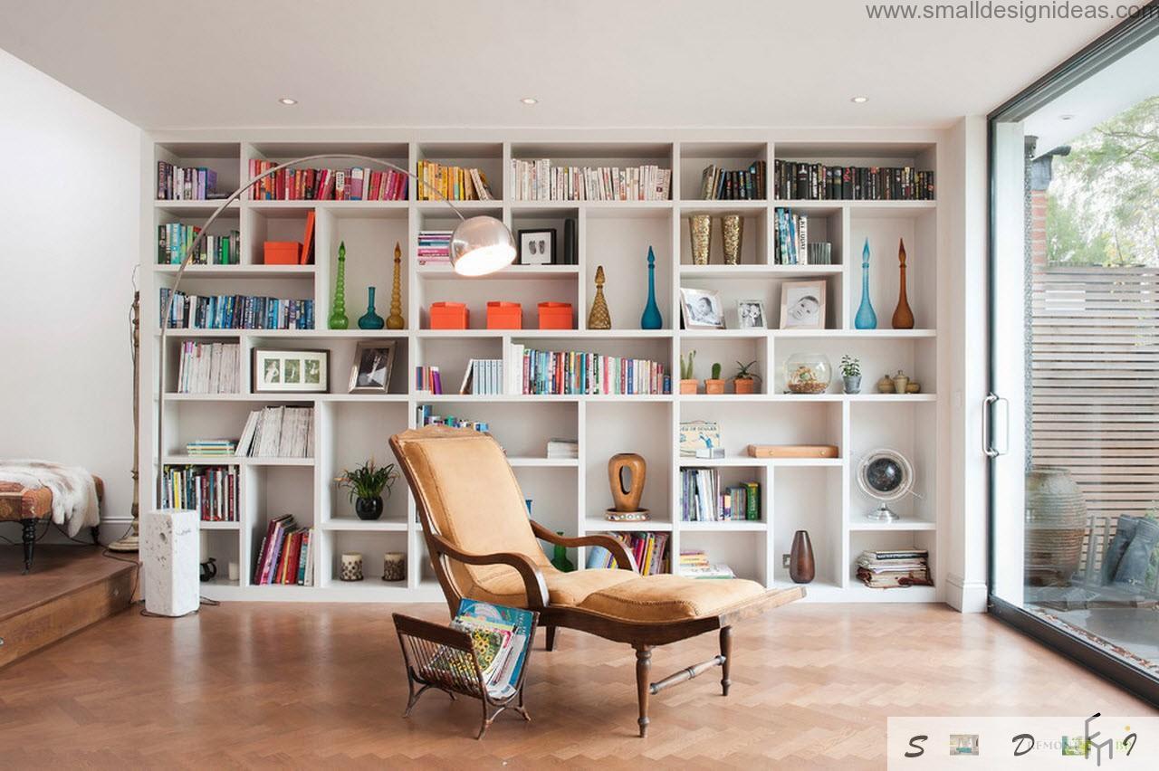 Modern living room design ideas - Living room library ideas ...
