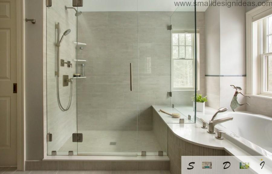 Light grey interior idea for the bathroom