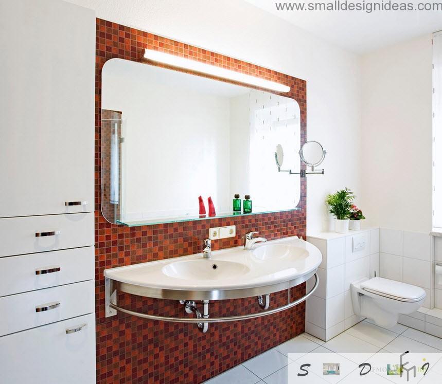 Unique hige sink in the modern bathroom design