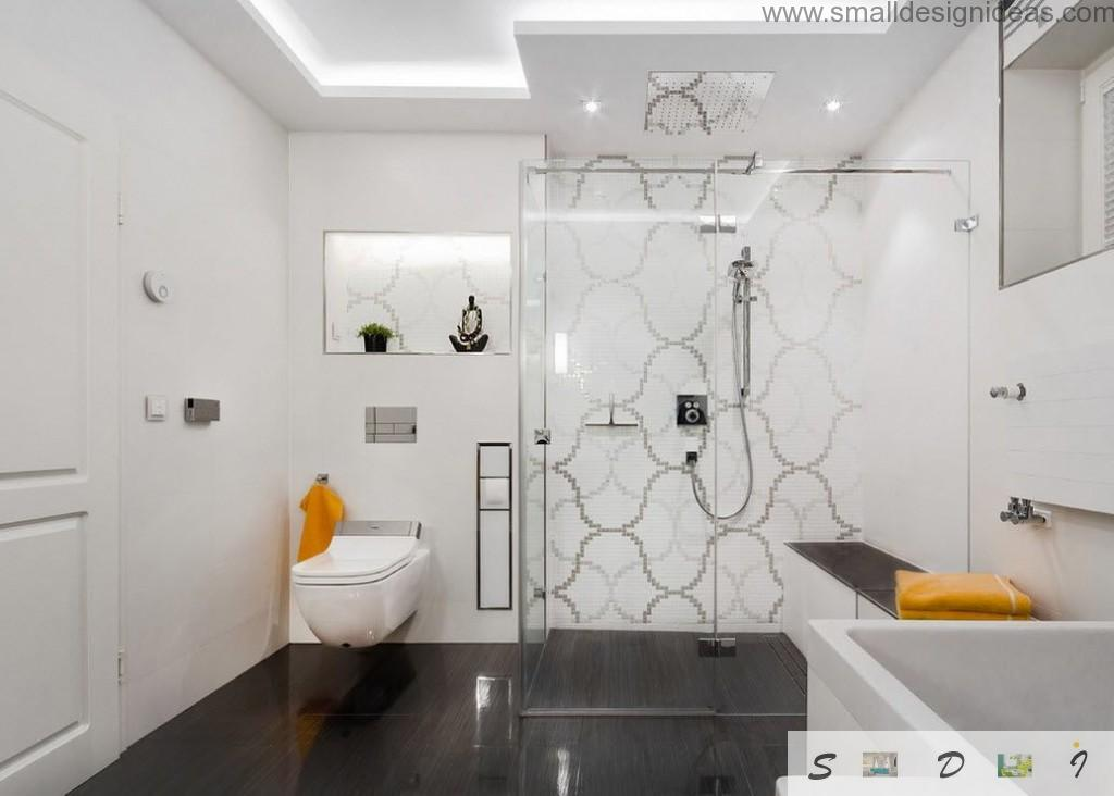 Paintinf Bathroom tile in modern interior