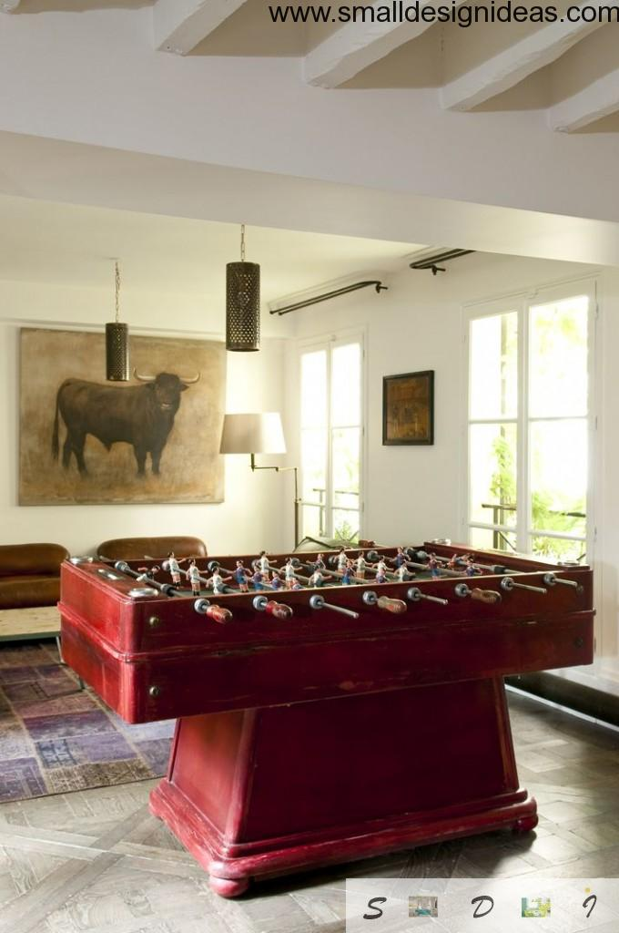 Living room in eclectic style with playground even for adults