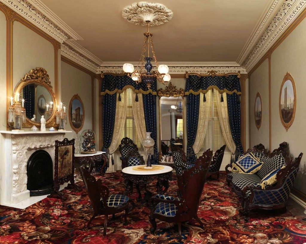 Renaissance Interior Design Style in the living room, full of historical elements and ambience of past decades