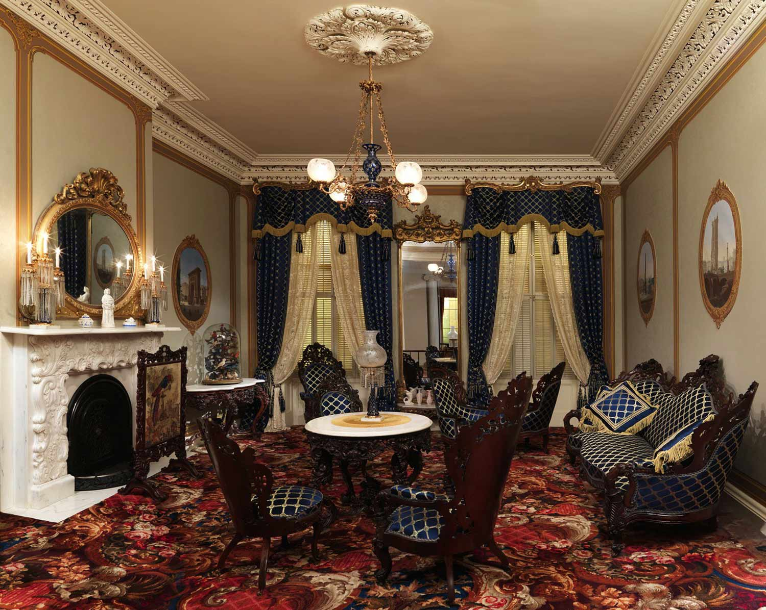 Renaissance Interior Design Style In The Living Room Full Of Historical Elements And Ambience