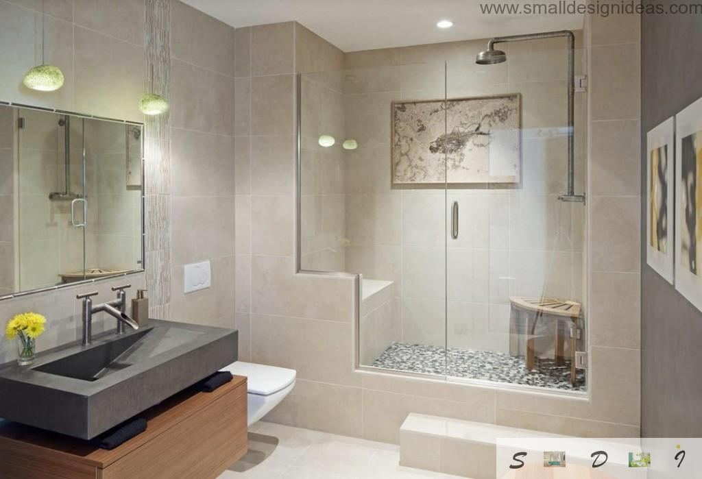 Ceramic and plastic alloy in the bathroom design ideas